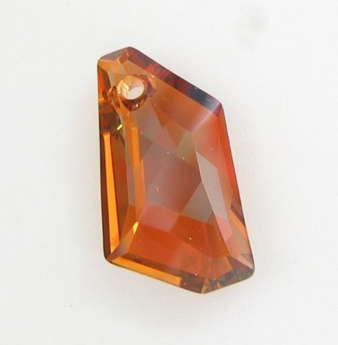 1 pc Swarovsk Crystal Polygon 6670 De-Art Charm Pendant Copper 24mm / Findings / Crystallized (Swarovski Polygon Crystal)