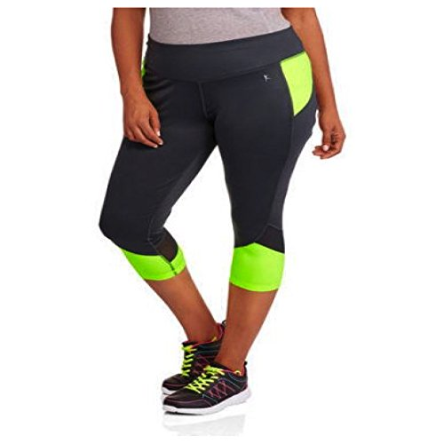 Plus Size Capri Pants for Women. Legging Style With Inner Pocket. (1X, Dark G... (Danskin Plus Size Yoga Pants compare prices)