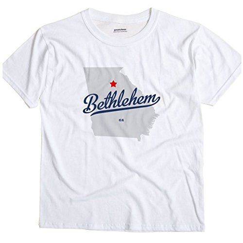 GreatCitees Bethlehem Georgia GA, Barrow County MAP Unisex Souvenir T Shirt -