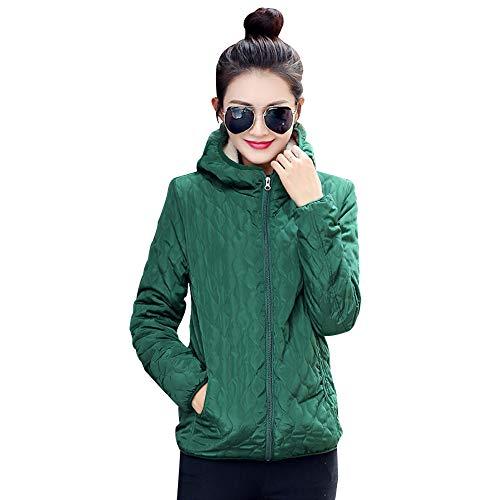 Caldo Addensare Cappotto Piumino Giacca Yihigh Donna Inverno Corto Verde Moda Trapuntato E Autunno Giacche Imbottito xP7wYqg