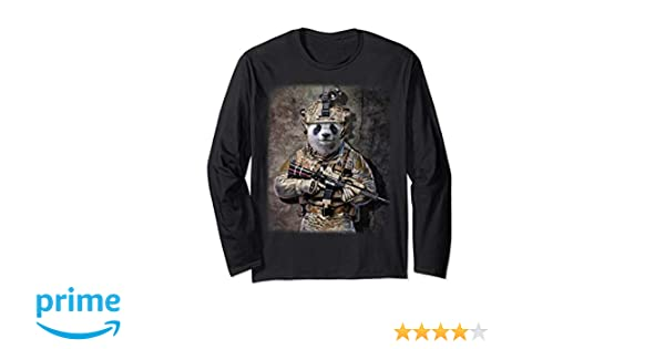 huge discount cf7db 00ee8 Panda as Army Commando in Full Tactical Gear, T-Shirt