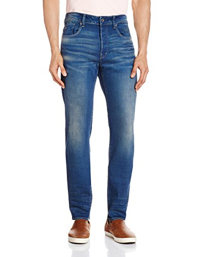 G-Star Raw Men's 3301 Slim Fit Jean In Firro Denim, Medium Aged, 33x34 by G-Star Raw