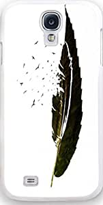 Galaxy S4 Case Dseason, Samsung Galaxy S4 Case Fashion Printing Series,High Quality Personalized Protector Quotes A feather