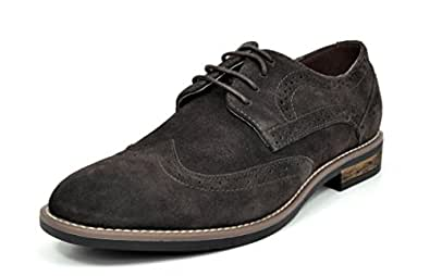Bruno Marc Men's URBAN-03 Dark Brown Suede Leather Lace Up Oxfords Shoes - 6.5 M US