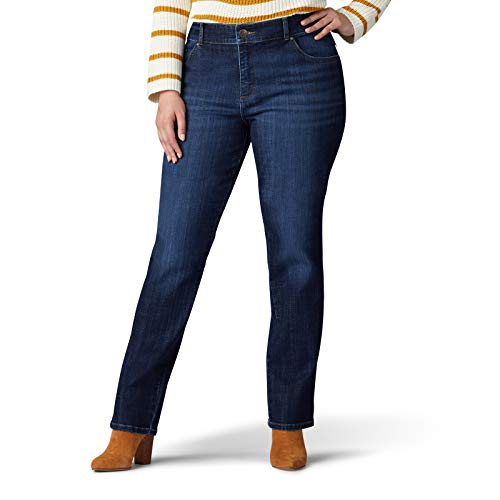 LEE Women's Plus Size Relaxed Fit Straight Leg Jean, Bewitched, 26W Petite