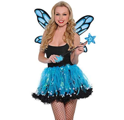 Amscan Blue Sparkle Fairy Accessory Kit for Women, One Size, with Included Accessories