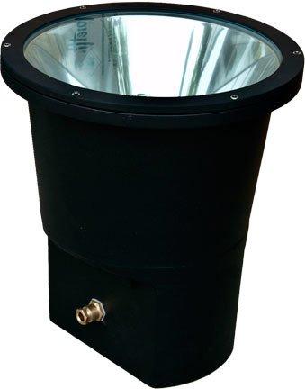 Dabmar Lighting DW1980-B-MT Extra Large Well Light, 150W MH Multi Tap, Black Finish