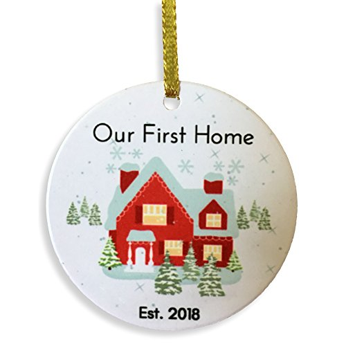 BANBERRY DESIGNS Our First Christmas New Home - 2018 Dated Xmas Ornament Newlywed - New Homeowners -