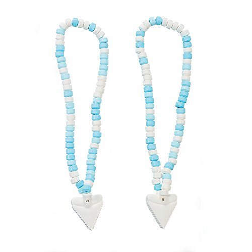 Shark Tooth Candy Necklaces - 12 Individually Wrapped