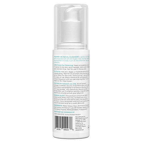Mederma AG Hydrating Facial Cleanser – with glycolic acid gently cleans while exfoliating and hydrating skin - dermatologist recommended brand - fragrance-free and hypoallergenic - 6 ounce