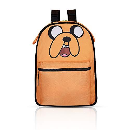 Kids Backpack - Cute Reversible Backpack for Kids Casual School Backpack College Backpack - Orange Dog/Green School Bookbag]()