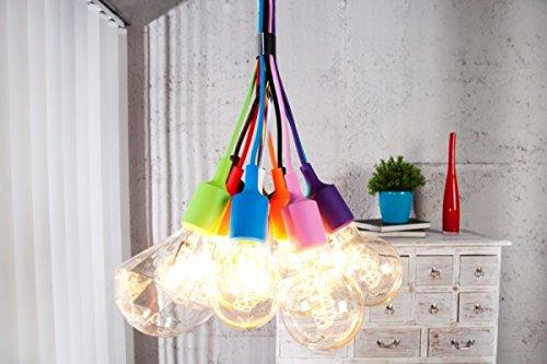 Livinio Design Hngeleuchte Hngelampe QuotEDISONquot Bunt 12er Set 110cm Beleuchtung Wohnzimmer Lampe