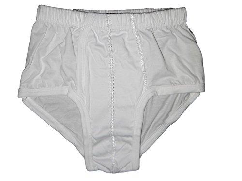 %100 Egyptian Cotton Mens Men Clothing Underwear Brief Boxer Slip Pants White- M (Egyptian Cotton Boxers)
