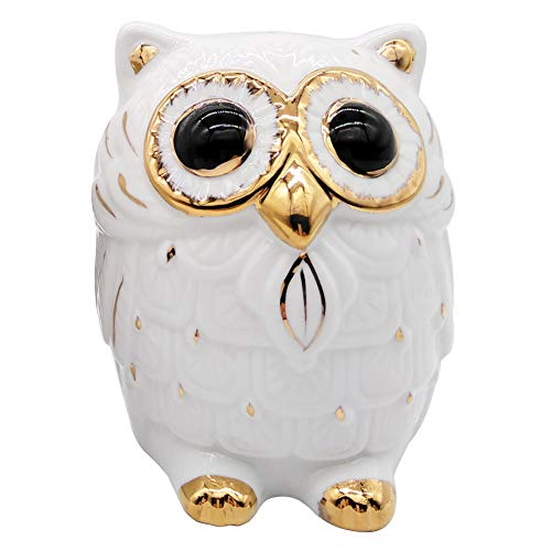 - globlepanda Owl Girls Piggy Bank Cute Owl Shape Gifts Ceramic Coin Banks White Save Money Can Owls Christmas Birthday Gift for Adults Kids Children Baby Home Bedroom Nursery Decorative Oranment