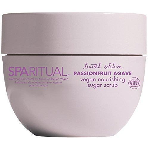 SPARITUAL Passionfruit Agave Vegan Nourishing Sugar Scrub, 7.7 Fluid Ounce