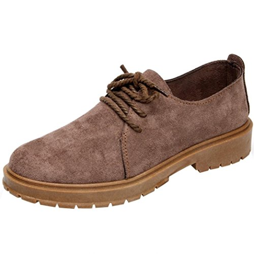 Tootu Lace-up Martin Shoes, Women Low Ankle Trim Round Toe Leather Boots