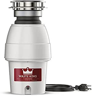 Waste King 9930 Continuous Feed Garbage Disposal  with Power Cord, 1/2 HP