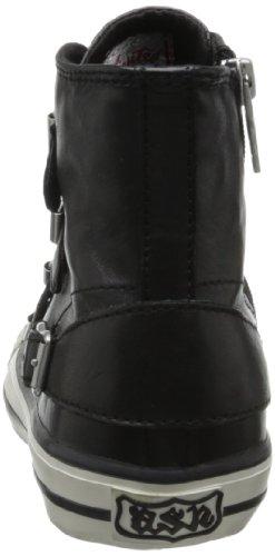 Sneaker Donna Moda Vergine Di Frassino, Nero, 36 Eu / 6 M Us
