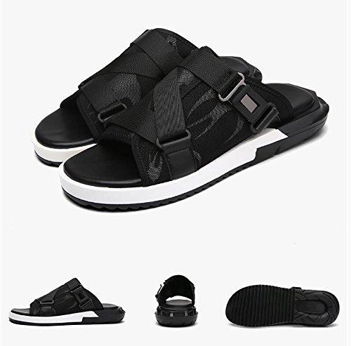 Soft Zapatos Toe Zapatos abiertos ZJM para Fabric playa Tamaño Slipper Mesh de hombre 38 antideslizantes sandalia UpwqT57