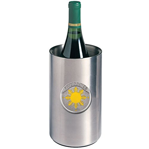 PHILIPPINES SUN WINE CHILLER, This is a wine chiller made of double-wall insulated stainless steel with a fine pewter logo medallion bonded to the - Philippines Eyeglasses Frame