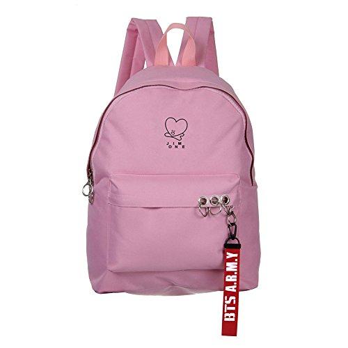 Schoolbag 6 Canvas Backpack Boys Bags Sports Satchel Starry Bangtan Sky Pink BTS Skisneostype KPOP Unisex xRIvv6