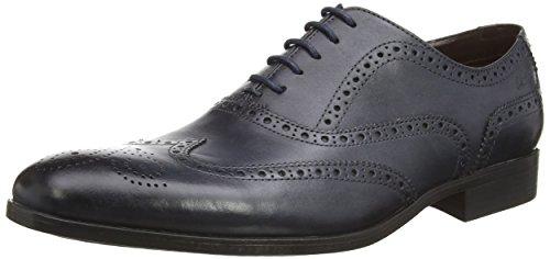 Clarks Banfield Limit Herren Derby Schnürhalbschuhe Blau (Navy Leather)