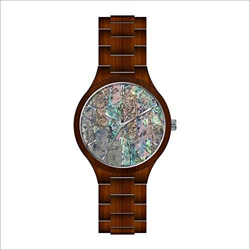 # klockor högklassig hälsa kvarts träklocka avslappnad kvarts klocka, vattentät, trä, den bästa gåvan för äldre armbandsur c