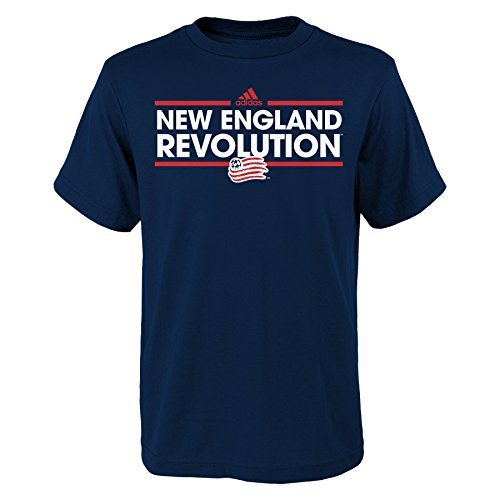fan products of MLS New England Revolution Boys -Dassler Short sleeve Tee, Dark Navy, Large (14-16)