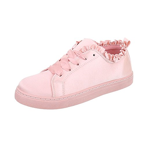 Rosa Ital Design Scarpe Sneaker Donna da Sneakers Piatto Low vvrw8FRq