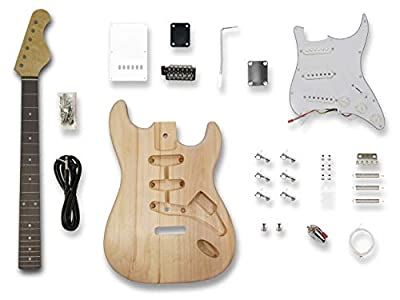 Electric Guitar Kits for Stratcaster Style Guitar, Bass Wood Body