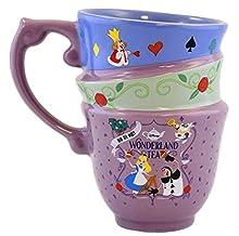 Disney Parks Alice in Wonderland Mad Tea Party Stacked Teacups 3D Sculpted Mug