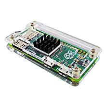 Enokay Clear Acrylic Case Cover for Raspberry Pi Zero with Heat sink