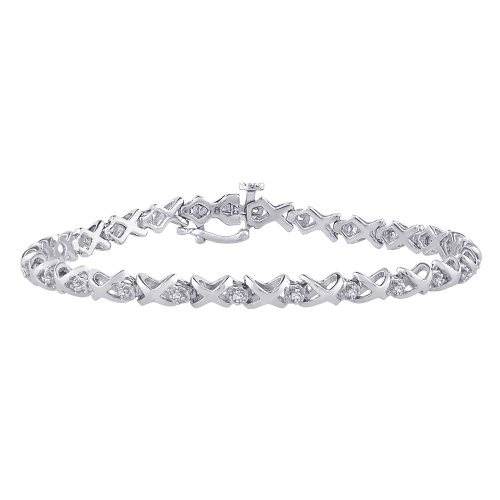 10K White Gold 1/4 ct. Diamond Tennis Bracelet