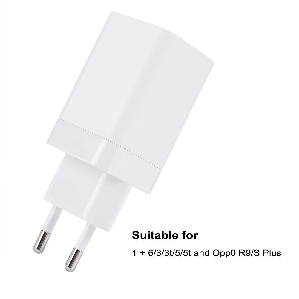Tihebeyan 5V / 4A Carga rápida Interfaz USB Original Dash Charger para Oneplus 5 / 5T / 3 / 3T y Otros teléfonos Android(USB)