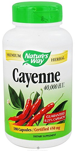Natures Way Cayenne, 450mg 180 Capsules