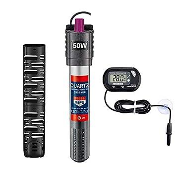 Amazon.com: Sukeen calentador de acuario 50 W/100 W/300 W ...
