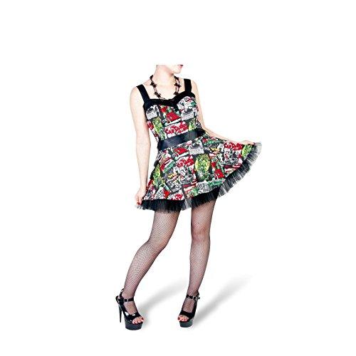 Hell Bunny Mini vestido B de Movie Dress Black/Multi negro