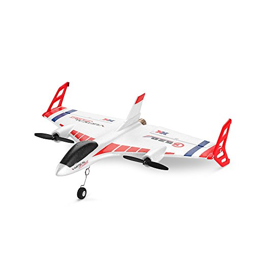 - Visdron X520 6 Channel Remote Control Airplane, 3D/6 Mode 2.4 GHZ Vertical Take Off Land Delta Wing RC Flying Paper Aircraft Toys RC Glider Indoors & Outdoors_Small Remote