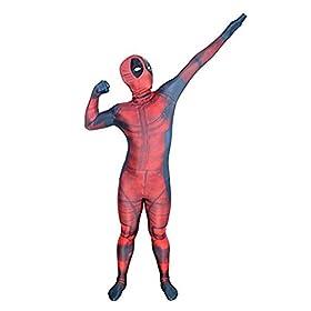 - 41jmek04fIL - AOVEI Kids Onesie Spandex Mask Cosplay 3D Costume Party Movies Halloween Bodysuits