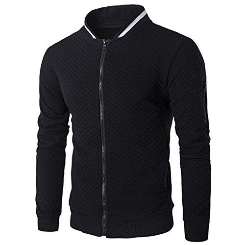 Negro chaquetas escocesa OverDose cremallera rebeca sudadera invierno chaqueta hombre 6d44q8