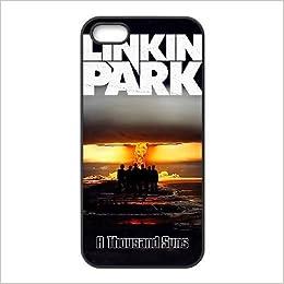 Amazon.com: iPhone 5s phone case Black Linkin Park LLLS9345526 ...