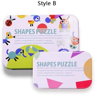 ZYHZP Magnética 3D Rompecabezas Tangram Juego Montessori Aprendizaje Educativo Dibujo Juegos de Mesa Juguete Regalo for los niños Cerebro Tease (Color : Colorful): Amazon.es: Hogar