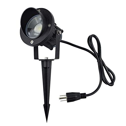 Cheap J.LUMI GBS9809 LED Outdoor Spotlight 9W, 120V AC, Replaces 75W Halogen, Metal Ground Stake, Daylight White, Outdoor Flag Light, Landscape Spotlight, UL-Listed Cord with Plug, Not Dimmable hot sale