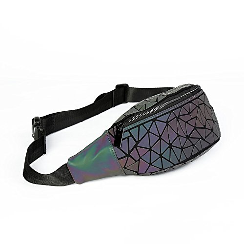 Lingge Change Bag Geometric Luminous Pockets Color Chest Triangle Waist Ladies Chaotic UnaqPgwWx