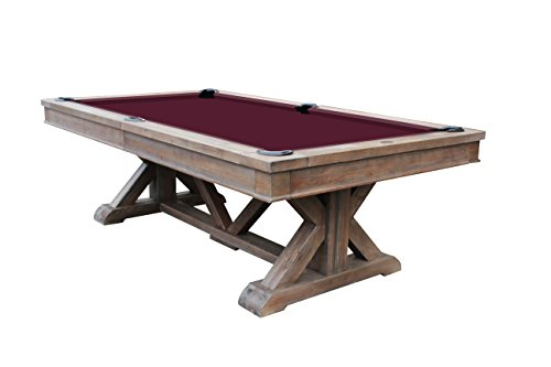 Playcraft Brazos River 8′ Slate Pool Table, Weathered Barn For Sale