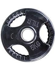 Skyland Rubber Gym Weight Plate, EM-9264-5 Kgs (Black)