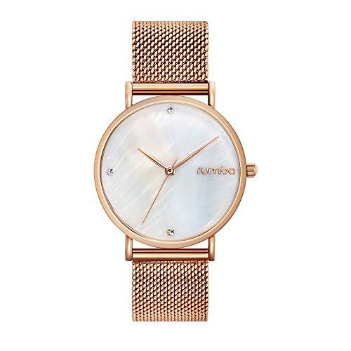 RumbaTime Women's 'Lafayette' Rose Gold Plated Stainless Steel Mesh Bracelet Casual Watch (Model: 27716)
