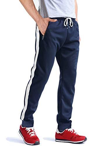 MAGCOMSEN Men's Joggers Wrinkle-Free Sweatpants Lightweight Drawstring Zipper Pockets Workout Running Pants