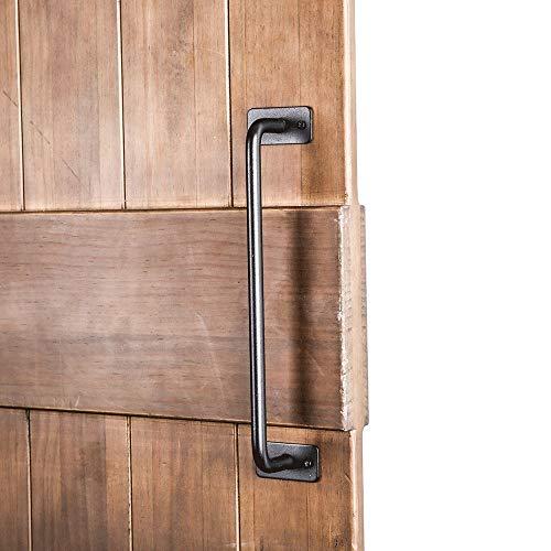 ZJXH Cabinet Door Handle Gate Kitchen Furniture Cabinet Closet Drawer Black Carbon Steel Heavy Duty Sliding Barn Door…