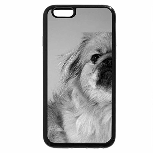 iPhone 6S Case, iPhone 6 Case (Black & White) - Lovely Dog